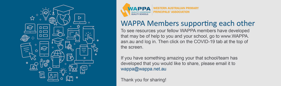 WAPPA Members supporting each other. To see resources your fellow WAPPA members have developed, log in and click on the COVID-19 tab at the top of the screen.