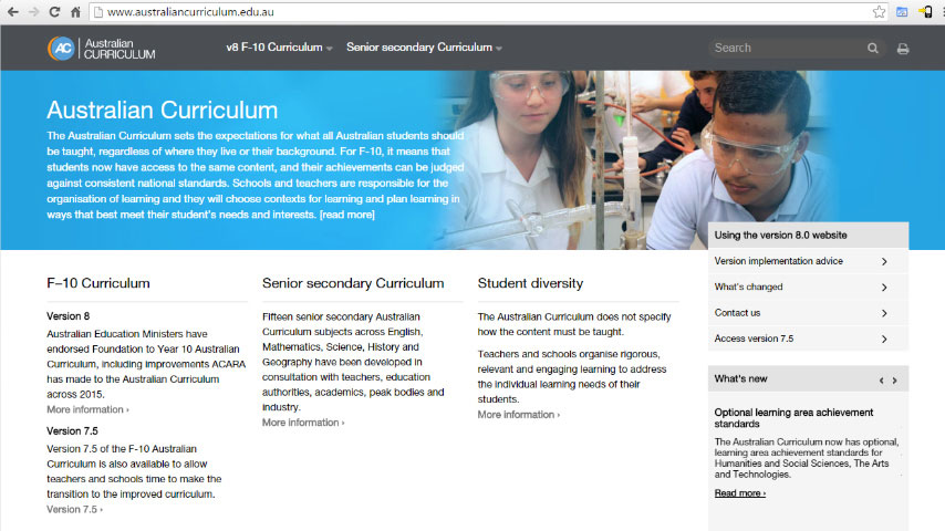 Our Journey - The Australian and Western Australian Curriculum
